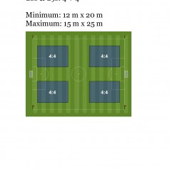 FIFA Small Sided Games Pitch Dimensions